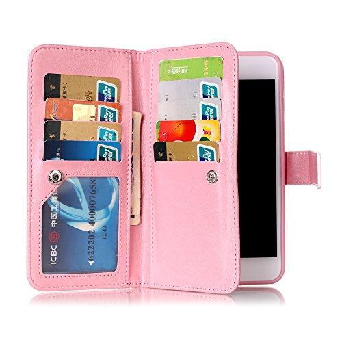 Cover iphone 8 plus / 7 plus, Custodia iphone 8 plus / 7 plus, Alfort Cover Protettiva Premium PU di alta qualità Flip Case Cover per iphone 8 plus / 7 plus 5.5 Smartphone Cover di Cuoio Flip Stand C Lettera