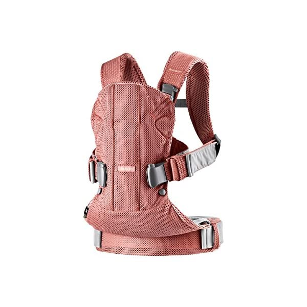Baby Carrier One Air (Vintage Rose Mesh) Baby Bjorn •Soft and breathable mesh that dries quickly •Ergonomic baby carrier with excellent support •4 carrying positions: facing in (two height positions), facing out or on your back 2