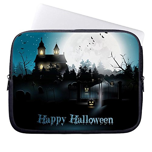 hugpillows-laptop-sleeve-bag-halloween-moon-cemetery-night-pumpkin-notebook-sleeve-cases-with-zipper