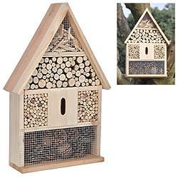 Hillfield® großes Insektenhotel Insektenhaus und Bienenhaus, Nistkasten und Bruthilfe (1 Stück)
