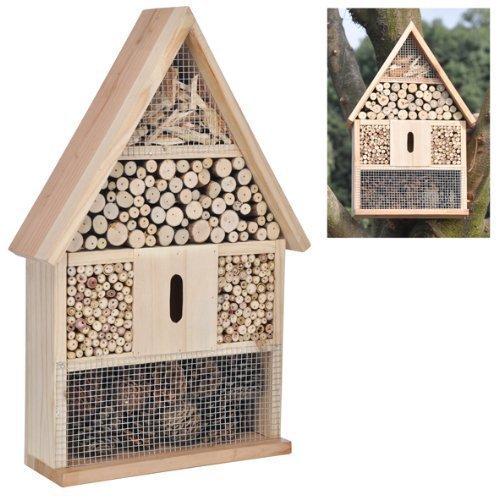 #Hillfield® großes Insektenhotel Insektenhaus und Bienenhaus , Nistkasten und Bruthilfe (1 Stück)#