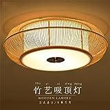 BRIGHTLLT Kreative japanische Bambus lampe Wohnzimmer Restaurant Schlafzimmer Holz- LED-Leuchte Bambus Deckenleuchte, 500 mm