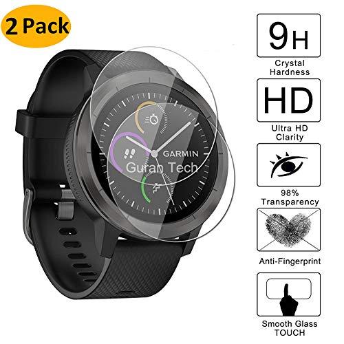 ctive 3 Bildschirmschutz, 2 Pack Full Coverage gehärtetem Glas Displayschutzfolie für Garmin Vivoavtive 3 GPS Smart Watch, Anti-Scratch, Anti-Fingerabdruck, blasenfrei ()