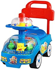 4 Wheel Funny Toddler Car Baby Funny Rider Toddlers Ride On Step Funny Rider Infant to Toddler Rider Scooter for Kids.