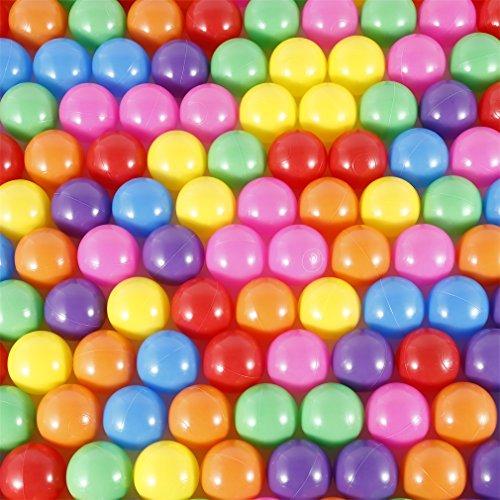 5.5cm bunt Babybälle YKS Bälle mit 7 Farben für Kinder Baby Bällebad Plastikbälle Bad Ball Kunststoff-Ozean-Kugel-Pit Balls (50Pcs)