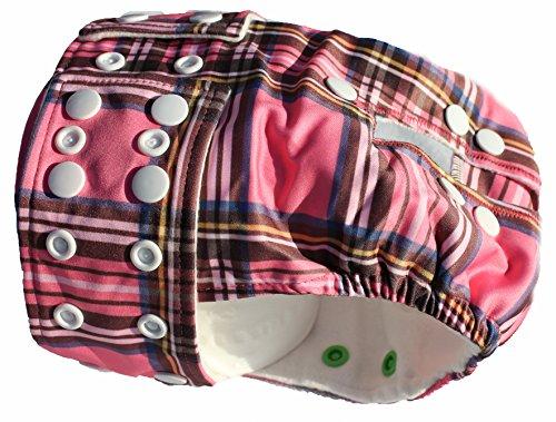 Glenndarcy Dog Pants Weiblich Hund Windel/Windel & 2waschbar Pads, vollständig Verstellbare wasserdichte Stoff–kleine bis mittelgroße Schutzhosen Smarty Pants