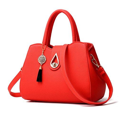 Tasche, Voberry Mode Frauen lichee Muster Crossbody Tasche Umhängetasche Tasche Messenger Bag Rot