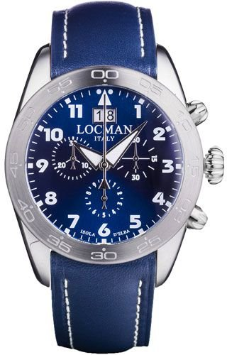 Locman 0460A0200BLWHPB Blue Titanium Man Watch