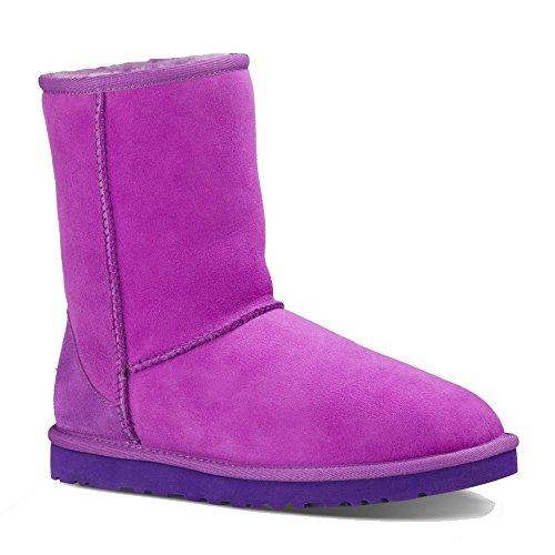 ugg-damen-wildleder-stiefel-boots-neu-w-classic-short-scarpe-da-barca-donna-nero-nero-viola-prugna-3