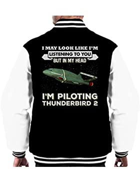 I May Look Like Thunderbird 2 Thunderbirds Men's Varsity Jacket