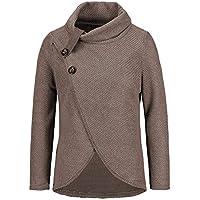 HWTOP Strickjacke Oben Frauen Langarm-Fest Sweatshirt Pullover Tops Bluse Damen Shirt Cardigan Jacke