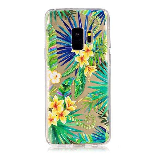 Coque Samsung Galaxy S9 Plus, Meet de Antidérapant Transparent TPU Silicone