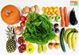 Fruitletbox Classic Junior 10 Kilo frisches Obst und Gemüse, Kiste mit Bananen, Äpfeln, Ananas und viel mehr, gekühlt.