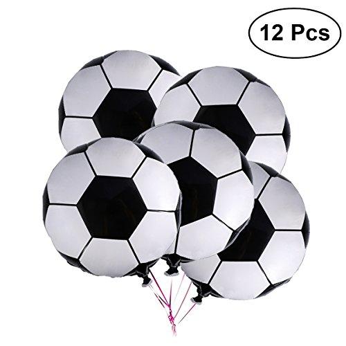 Luoem palloni da 12 pollici pallone da calcio in alluminio metallizzato palloncini in metallo mylar decorazione per festa di compleanno 18 pollici