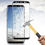 Samsung Galaxy S8 Plus, pellicola Vitutech Galaxy S8 Plus vetro temperato copertura completa 3D curvo pellicola protettiva per Galaxy 8 Plus durezza 9H guardia pellicola proteggi display -- nero immagine