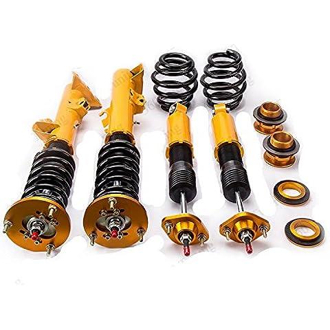 Gowe Coilovers Bobina para BMW E36Serie 3316318323325328M392–97Coilovers Bobina Strut Inglesa Ajustable con resorte en espiral bobina puntales Amortiguador Street Golden