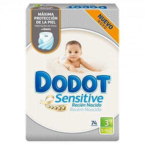 Dodot Sensitive - Pañales para bebés, talla 3 (5 - 10 kg),...