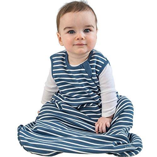 Woolino Baby-Schlaf Tasche 4 Jahreszeiten grundlegende Merino Wolle Baby-Schlafsack 18-36 Monate Navy-blau