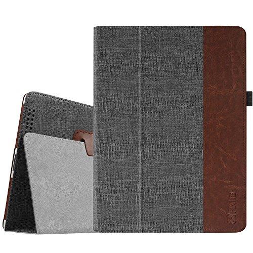 Fintie iPad 2/3 / 4 Hülle Case - Folio Slim Fit Stoff Schutzhülle Cover Tasche Etui mit Auto Schlaf/Wach Funktion für Apple iPad 2 / iPad 3 / iPad 4, Denim dunkelgrau
