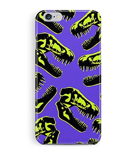 Ragazzi iPhone 4 custodia - XRAY cranio di disegno fresco Dinosaur custodia - Divertente di plastica sottile rigida snap-on con cover