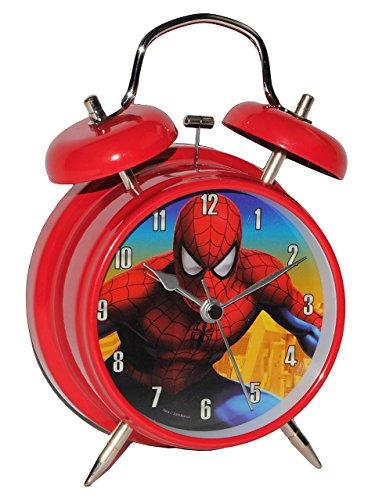 Kinderwecker -  The Amazing Spider-Man  - für Kinder Metall Großer Wecker Analog - Alarm...