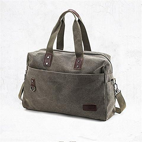 retro - portable reisetasche großer nähe gepäck tasche,armygreen