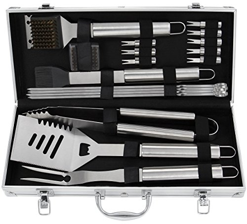 Grilljoy 19pcs conjunto de herramientas de la parrilla del Bbq, accesorios de...