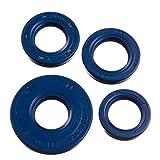 LYO Set: Wellendichtringe Motor kpl, blau, Doppellippe - Simson S51, S70, S53, S83, KR51/2 Schwalbe, SR50, SR80
