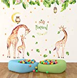 Hwhz Large Size Cartoon Giraffe Wall Stickers for Kids Rooms Home Decor Sticker Mural Removable Wall Decals