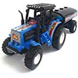 Tractor With Water Tanker Toy For Kids, Length 23 Cm (Blue)