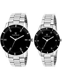 Timewear Analogue Black Dial Men'S And Women'S Watch 906Chbdtcouple