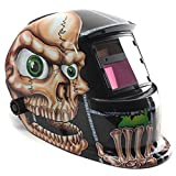 Mascara de soldadura solar - SODIAL(R) mascara de soldadura automatica solar de casco en forma de craneo
