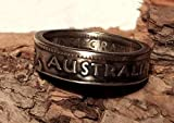 Coinring, Münzring, Ring aus Münze (1 Shilling, Australien 1953), 500er Silber - Double Sided coin ring - Größe 57 (18.1), handgeschmiedetes Unikat
