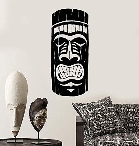 sche Maya Maske Ethnischen Stil Vinyl Wandtattoo Wohnkultur Diy Kunstwandbild Wallpaper43 * 100Cm ()