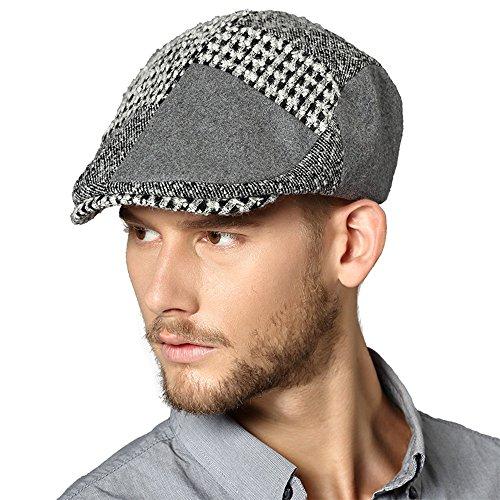 Kenmont Automne Printemps Homme Homme Laine Visor Cabbie Hat gavroche Ivy Cap