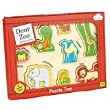 Milly & Flynn - Dear Zoo Puzzle Play Tray - Wooden Toy