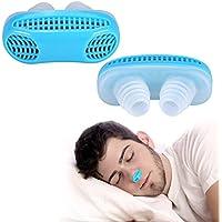 Respirare aria Apparecchio di purificazione anti russare nasello contribuire ad alleviare congestione nasale russare nasale Breathe di facile (Blu)