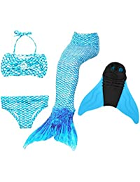 Likeep Mädchen Cosplay Kostüm Badebekleidung Süße Meerjungfrau Badeanzug 3pcs Bikini Sets Ein Mädchentraum!