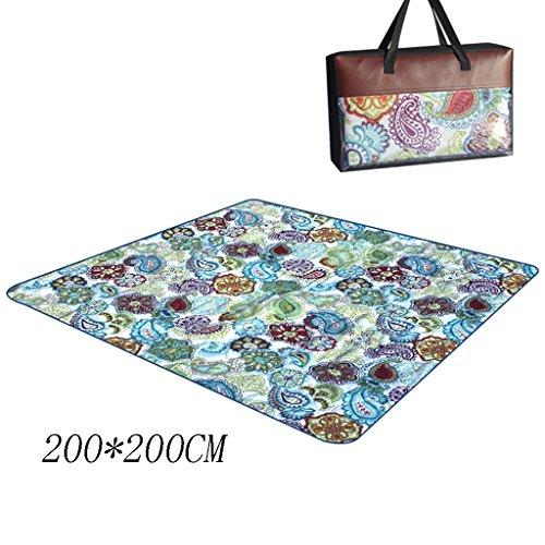 TYJ Picknick-Decken Picknick-Matten Feuchtigkeitsbeständige Outdoor-Zelt-Pad Fold Baumwolle Und Oxford Tuch 200 * 200CM ( Farbe : #1 , größe : 200*200CM )