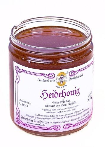 Heidehonig 500g - sehr aromatisch, naturbelassen (von Imkerei Nordheide) (Griechischer Reiner Honig)