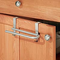 MSV Stainless Steel Extendable Dish Cloth Towel Hanger Hooks onto Cupboards and Draws