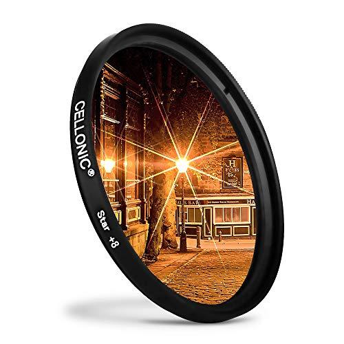 CELLONIC® Sternfilter 8 Pt kompatibel mit Panasonic Leica/Lumix Ø 62mm (8 Point) Gitterfilter, Kreuzfilter