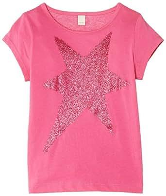 Esprit Girls Star T-Shirt, Floral Pink, 2 Years (Manufacturer Size:92+ cm)