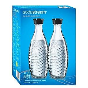 SodaStream DuoPack Glaskaraffe, Ersatzflaschen geeignet für die SodaStream Wassersprudler Crystal und Penguin, 2x 0,6 L