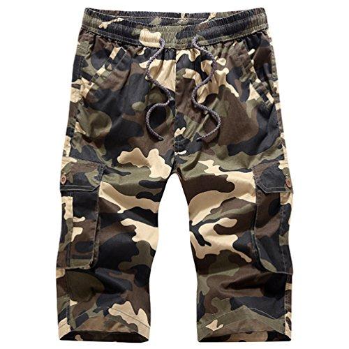 Sronjn Herren Sommer Casual Boardshorts Camouflage Kurzhose Komfort Badehose Camouflage Khaki