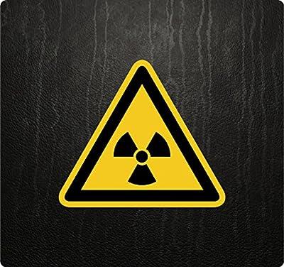 Warnung vor radioaktiven Stoffen Warnhinweis Warnzeichen Hinweiszeichen Aufkleber Sticker Kleber Verbot Gebot Nr.3
