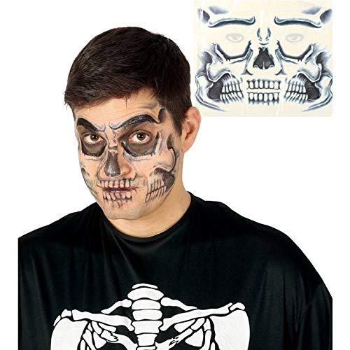Fiesta Skelett Totenkopf Gesicht Temporäre Tattoo Transfer Halloween Special Effects