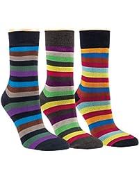 Vitasox Damen Socken Bambus bunt Ringel Bambussocken Damensocken Ringelsocken ohne Gummi ohne Naht 6er oder 12er Pack