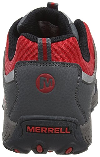 Merrell Chameleon Low Lace Waterproof, Chaussures de Randonnée Basses Garçon Multicolore (Grey/Red)