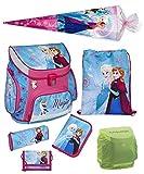 Familando Disney die Eiskönigin Schulranzen-Set 7tlg. Scooli Campus Up Frozen Magic mit Schultüte 85 cm, Federmappe und Regenschutz